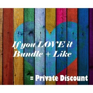 Bundle + LIke = Private Discount Offer